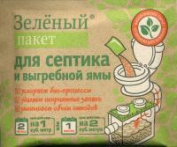 Доктор Робик зеленый пакет для выгребных ям и септиков 40 гр.