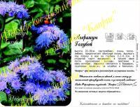 Агератум Голубой/Голубое море (Германия) (20пак*0,3 гр.)