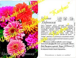 Цинния Вернисаж смесь (20пак*1 гр.)