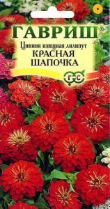 Цинния Красная Шапочка лилипут 0,3 гр.