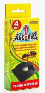 Абсолют Приманка от сад. и дом.муравьев 4 таблетки 10,4гр.