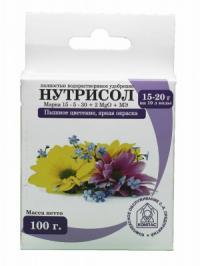 Нутрисол для цветов (15-5-30+2 Мg+микроэлементы) 100 гр.