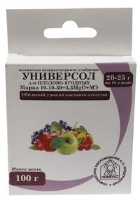 Универсол Плодово-ягодный 10-10-30+3,3MgО+мэ 100 гр.