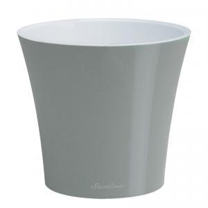 Горшок Арте 1,2 литра металлик-белый