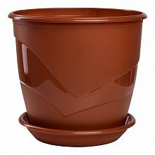 Горшок Венеция  диаметр 21см.   4,1 литра  терракот с поддоном  (5PL0097)