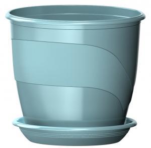 Горшок Венеция  диаметр 23 см.  5,5  литра  мята с поддоном (5PL0107)