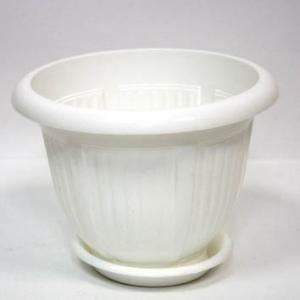 Горшок Волна 18 литров (40*31)+поддон белый  (112042)