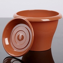 Горшок Гамма  диаметр 22 см.  2,9л  литра терракот с поддоном  (5PL0083)