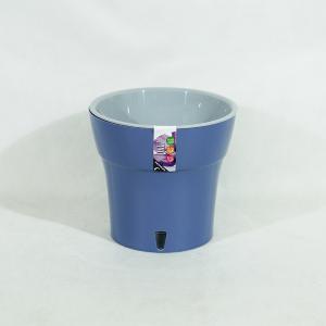 Горшок Дали 0,6л дымчатый синий-серый