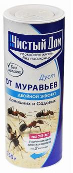 Дуст Чистый Дом от муравьев без запаха туба 350гр.