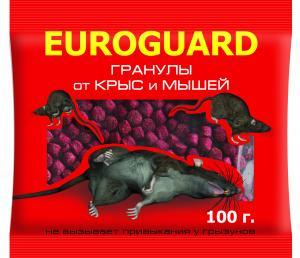 Гранулы EUROGUARD от крыс и мышей 100гр. пр-во Италия