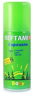 Аэрозоль Рефтамид BABY детск. от комаров 100мл.