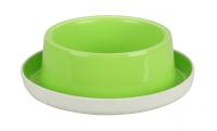 Миска круглая на противоскользящей основе (салатовая) (М6219)